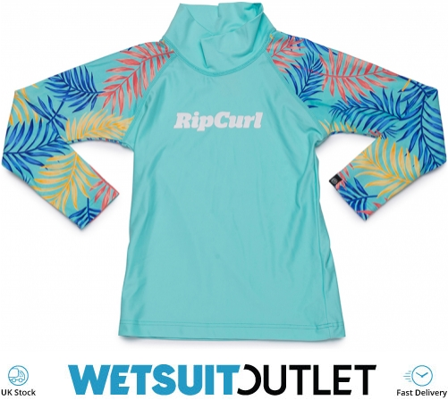 Rip Curl Mini Anak Short Sleeve UV Girls Rash Vest