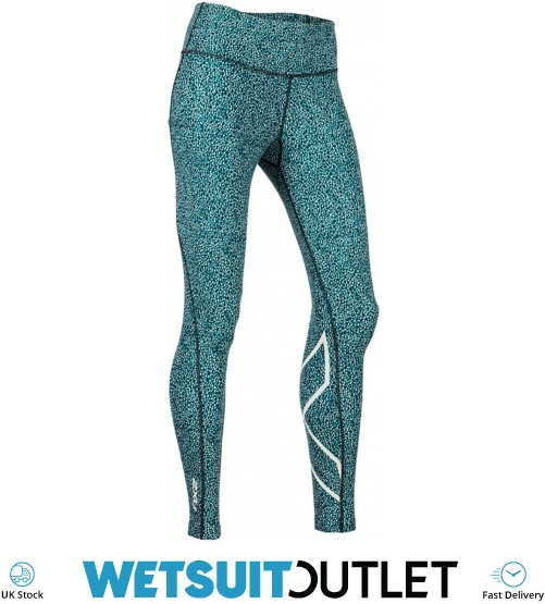 3bf030aec4 2019 2XU Womens Print Mid-rise Compression Tights Rain Spot Ocean Teal  Wa5378b - Triathlon | Wetsuit Outlet