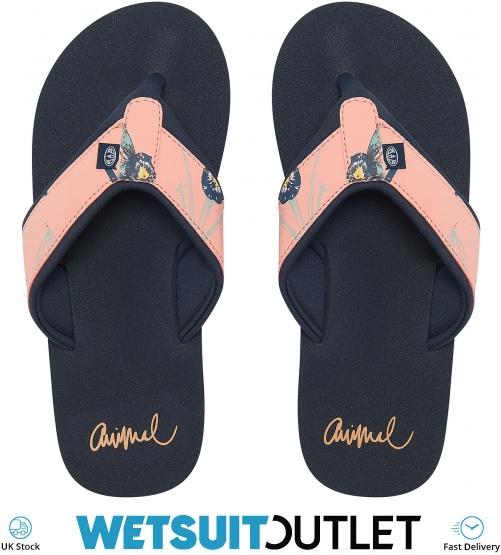 Animal Swish Upper AOP Women/'s Psycho Red Flip Flops Sandals Brand New