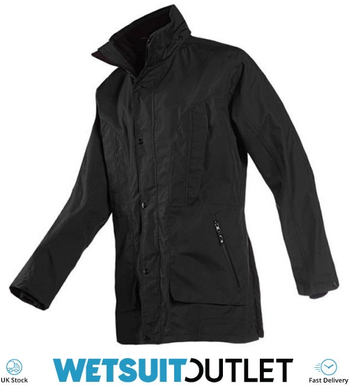 Breathable Waterproof Sprayproof Musto Mens Corsica BR1 Yacht Sailing and Boating Long Coat Jacket Black Fire Orange