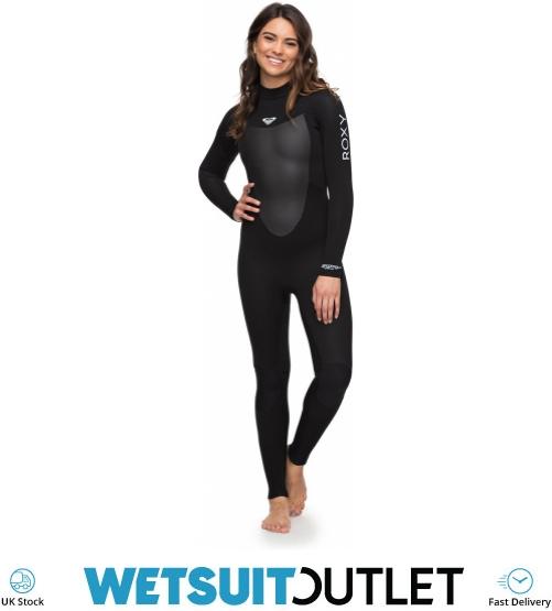 e3d86aa927 2018 Roxy Womens Prologue 5 4 3mm Back Zip Wetsuit Black ERJW103041 ...