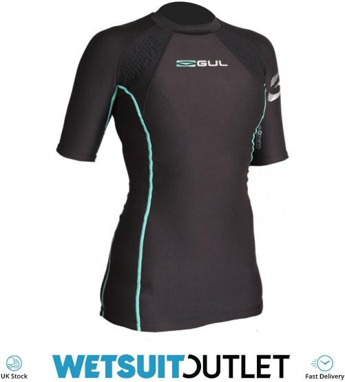 Gul Ladies Evolite FL Thermal Short Sleeve Top 2019 Black