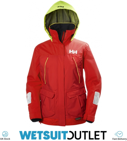 2018 Helly Hansen Womens Pier Coastal Jacket Alert Red 33886