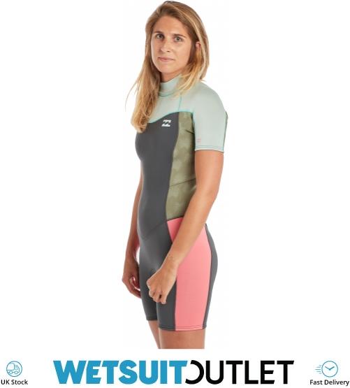 dfbec10200 2019 Billabong Womens Furnace Synergy 2mm Shorty Wetsuit Seafoam N42G04