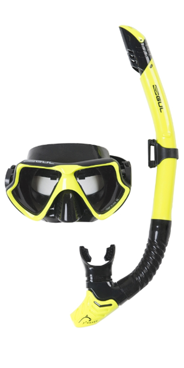2018 Gul Taron Adult Mask & Snorkel Set in Yellow / Black GD0001