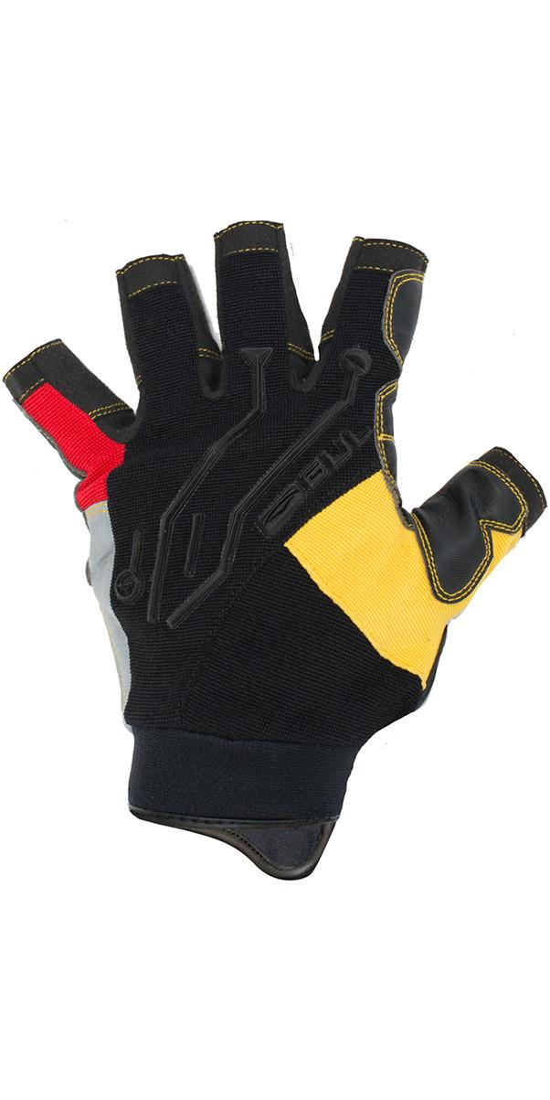 2017 Gul EVO2 Pro Short Finger Summer Sailing Glove Black / Yellow GL1288