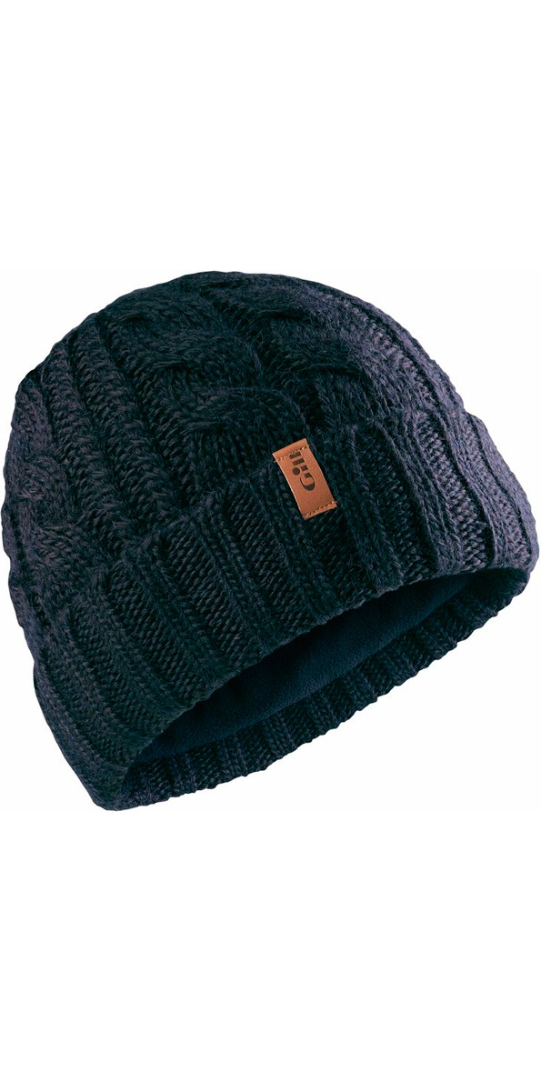 2018 Gill Cable Knit Beanie in Navy HT32