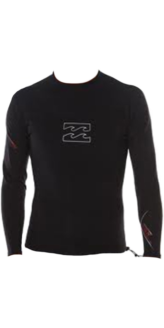 Billabong Solution SGX 1/0.5mm Long Sleeve Neoprene Top in BLACK J41M01