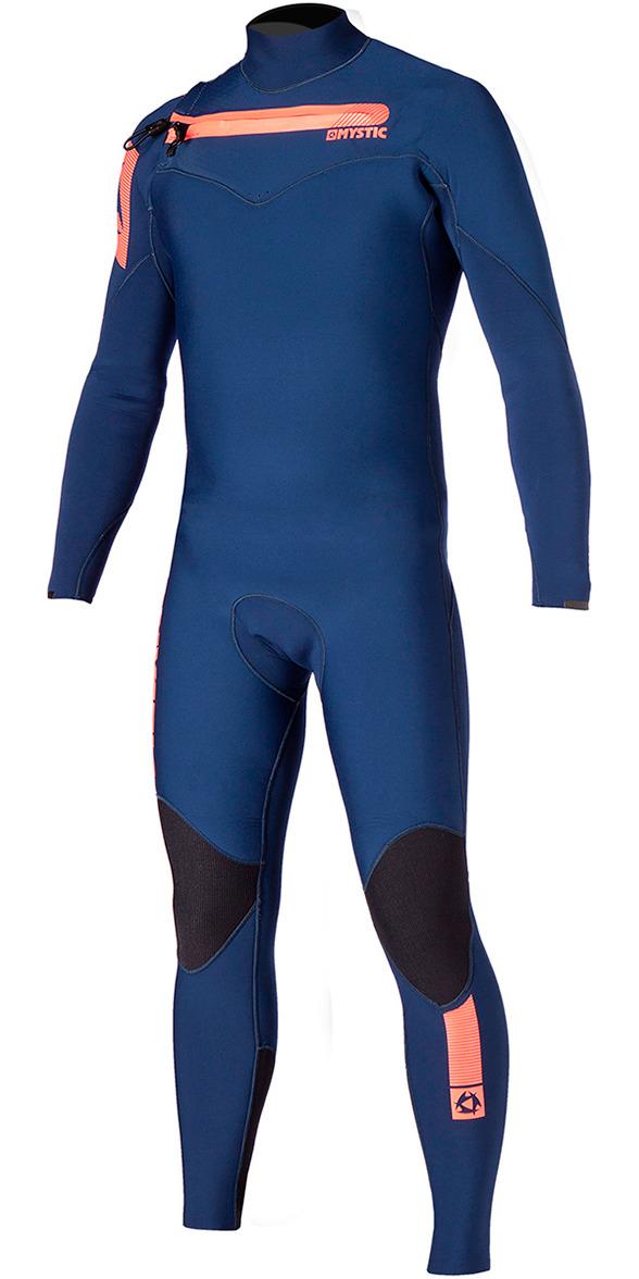 2016 Mystic Majestic 3/2mm Chest Zip Wetsuit - Navy 150015