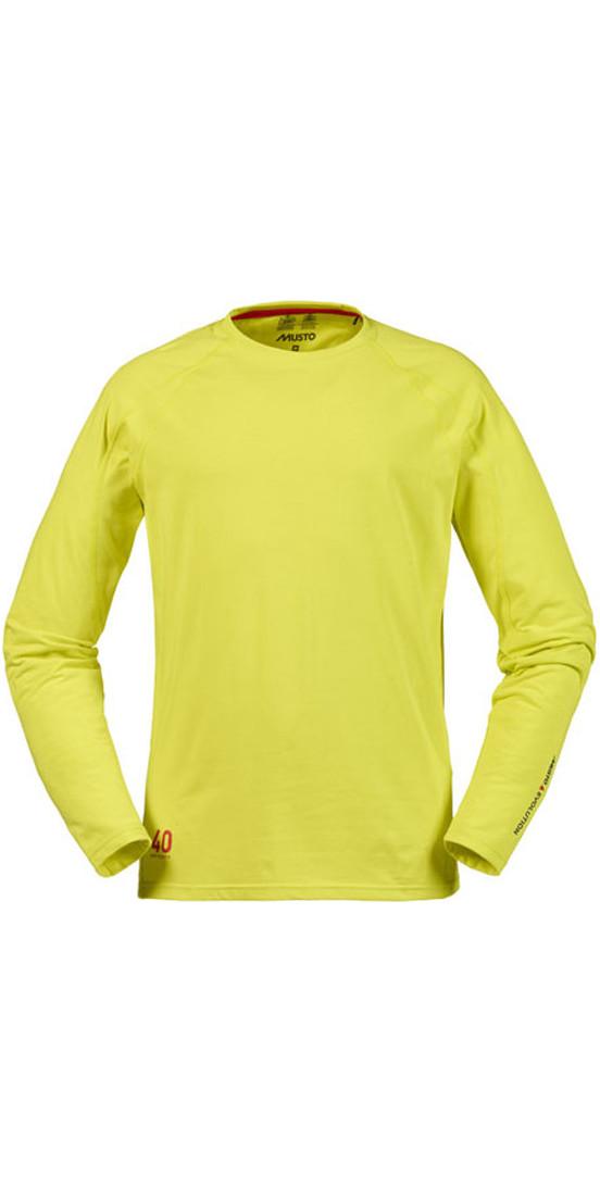 Musto Evolution Sunblock Long Sleeve T Shirt Sulphur
