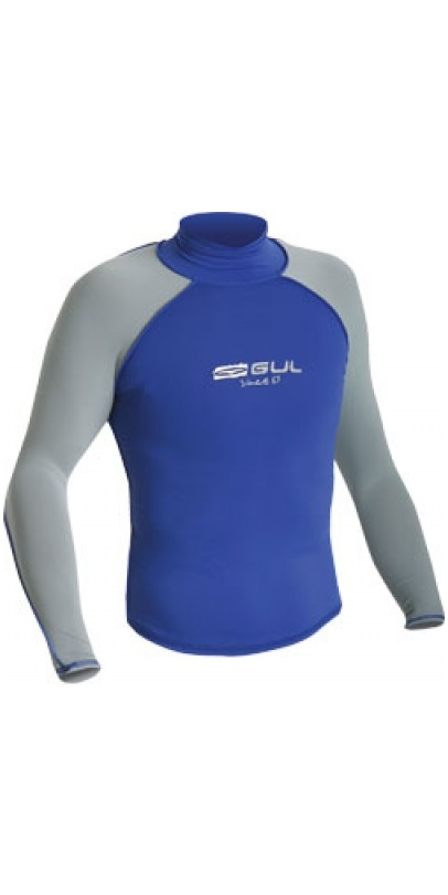 Gul Riva Long Sleeved Rash Vest Royal Blue/grey RG0011