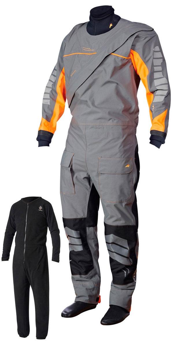 Crewsaver Phase 2 Front Zip Drysuit Grey / Orange + UNDERSUIT & Drybag 6923