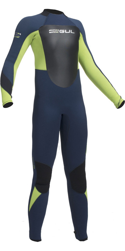 2018 Gul Response 5/3mm Junior Wetsuit Navy / Lime RE1218-B1