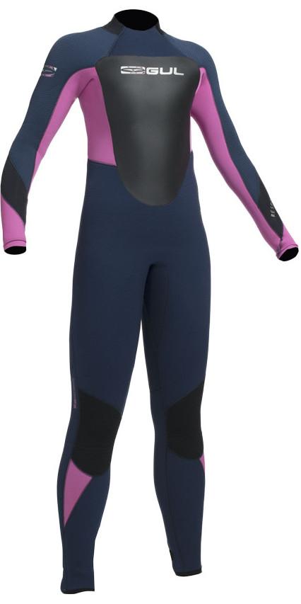 2019 Gul Response 5/3mm Junior Wetsuit Navy / Pink RE1218-B1
