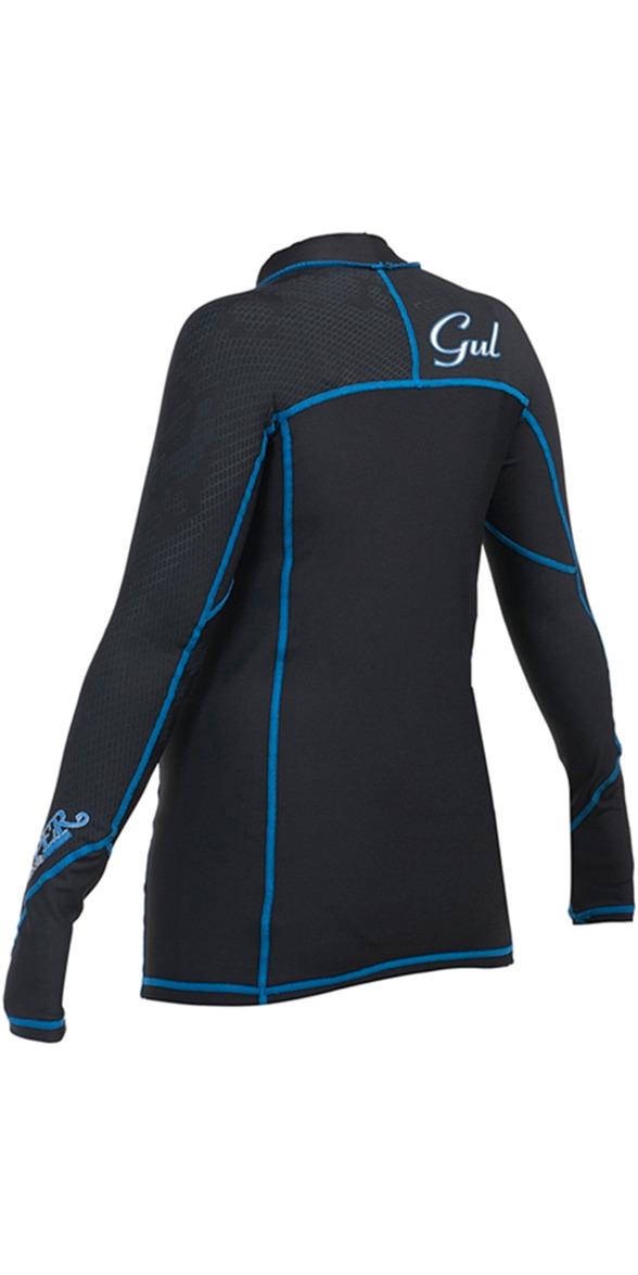 2018 Gul Womens Viper Recore Long Sleeve Thermal Rash Vest - Black RG0359