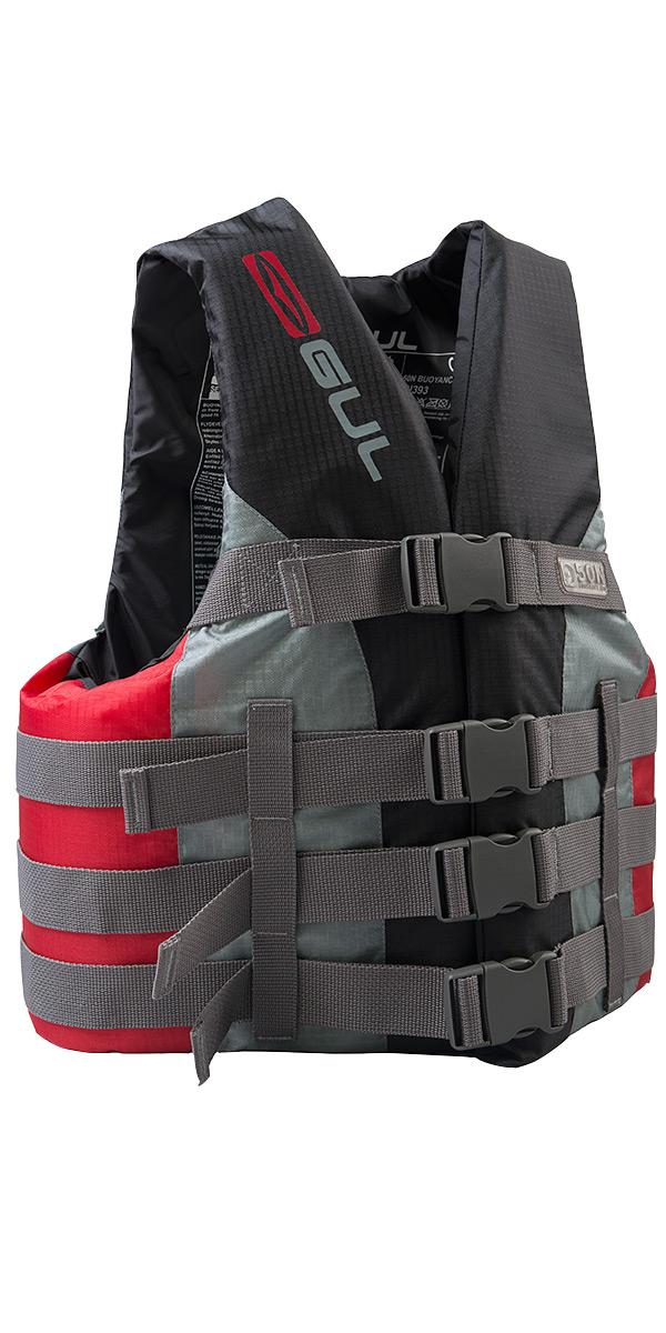 2019 Gul 50N 4 Buckle Impact Vest / Buoyancy Aid Black / Red SK7102-B4