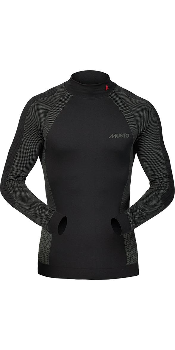 2019 Musto Active Base Layer Long Sleeve Top Black SU0150