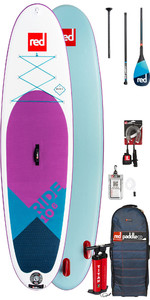 2019 Red Paddle Co Ride 10'6 SE Inflatable Stand Up Paddle Board - Carbon 100 Package