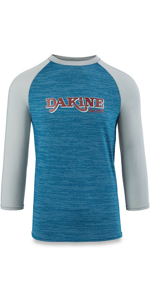 2018 Dakine Roots Ragaln Loose Fit 3/4 Sleeve Surf Shirt Resin Heather 10001665