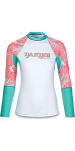 Dakine Womens Flow Print Snug Fit Long Sleeve Rash Vest Waikiki 10001677
