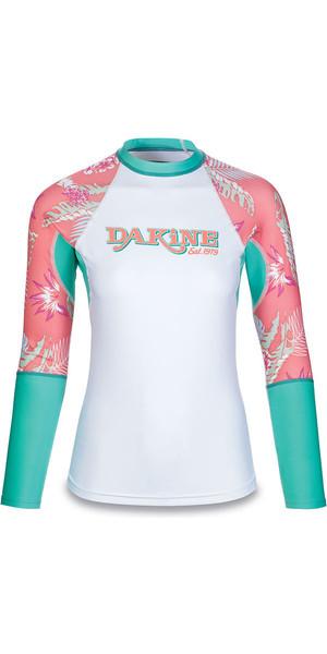 2018 Dakine Womens Flow Print Snug Fit Long Sleeve Rash Vest Waikiki 10001677