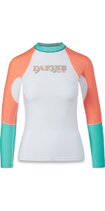 Dakine Womens Flow Snug Fit Long Sleeve Rash Vest Waikiki 10001678