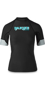 2018 Dakine Womens Flow Snug Fit Short Sleeve Rash Vest Black 10001680