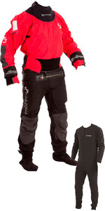 2019 Typhoon Multisport 4 Four Drysuit Including Con Zip & Underfleece Red / Black 100140
