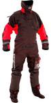 2019 Typhoon Max B Drysuit With Con Zip Inc Underfleece Black / Red 100168