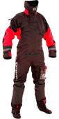 2021 Typhoon Max B Drysuit With Con Zip Inc Underfleece Black / Red 100168
