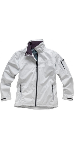 2018 Gill Men's Crew Jacket in Silver 1041