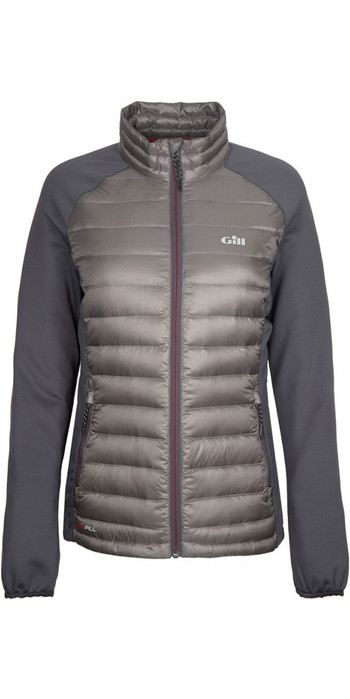 2019 Gill Womens Hybrid Down Jacket Pewter 1064W
