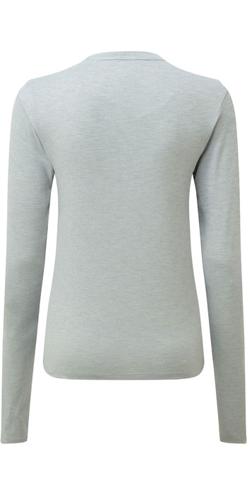 2021 Gill Womens Holcombe Crew Base Layer Grey 1100W
