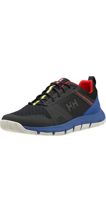 2021 Helly Hansen Skagen F-1 Offshore Sailing Shoes 11312 - Ebony / Royal Blue