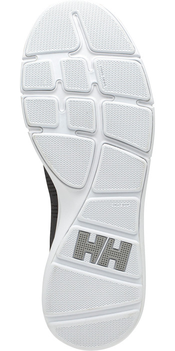 2021 Helly Hansen Ahiga V4 Hydropower Sailing Shoes 11582 - Black / White / Silver