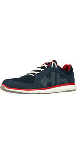 2020 Helly Hansen Ahiga V4 Hydropower Sailing Shoes 11582 - Navy / Flag Red