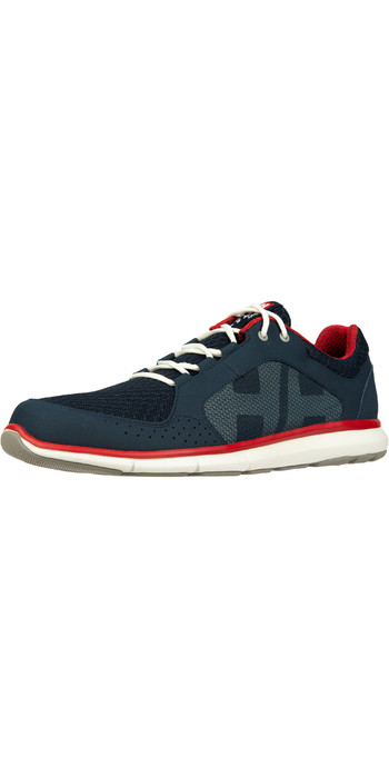 2021 Helly Hansen Ahiga V4 Hydropower Sailing Shoes 11582 - Navy / Flag Red