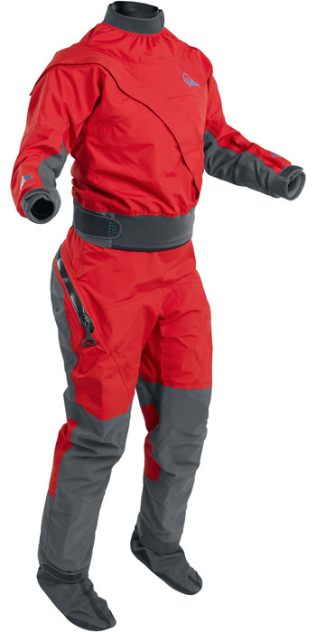 2021 Palm Womens Cascade Front Zip Kayak Drysuit + Drop Seat Flame Red 12369