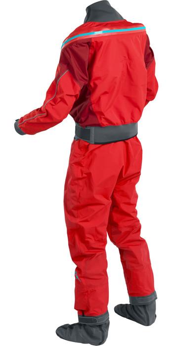 2021 Palm Mens Atom Back Zip Kayak Drysuit + Con Zip Flame / Chilli 12380