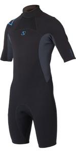2020 Magic Marine Junior Brand 3/2mm Shorty Wetsuit Black / Blue 160030