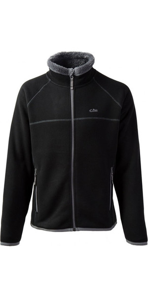 2018 Gill Mens Polar Fleece Jacket in Black / Silver 1700