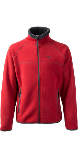 2018 Gill Mens Polar Fleece Jacket in RED 1700