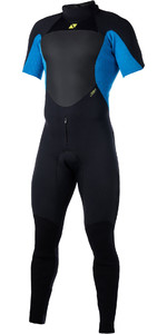 2020 Magic Marine Mens Ultimate 3/2mm Back Zip Short Arm Wetsuit Blue 170051