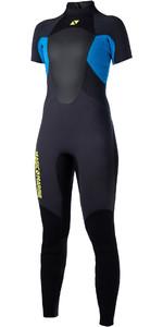 2020 Magic Marine Womens Ultimate 3/2mm Back Zip Short Arm Wetsuit Blue 170095
