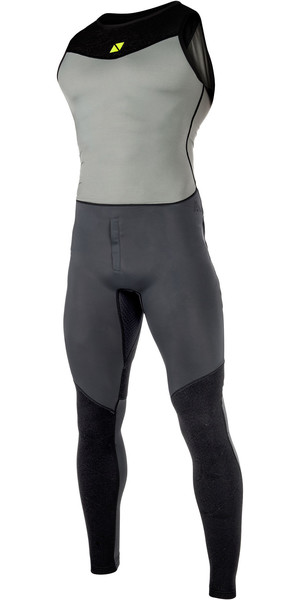 2019 Magic Marine Mens Air Rash Long John Dark Grey 180027
