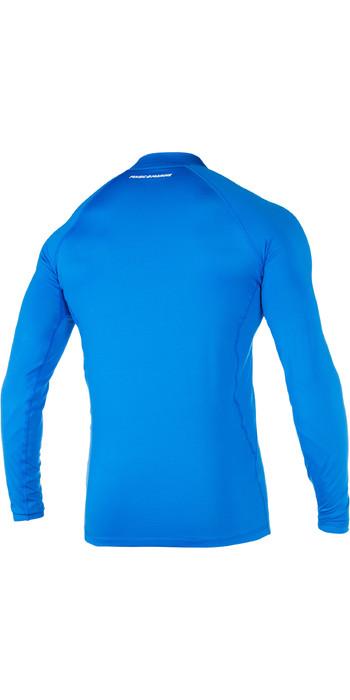 2021 Magic Marine Mens Cube Long Sleeve Rash Vest Blue 180041