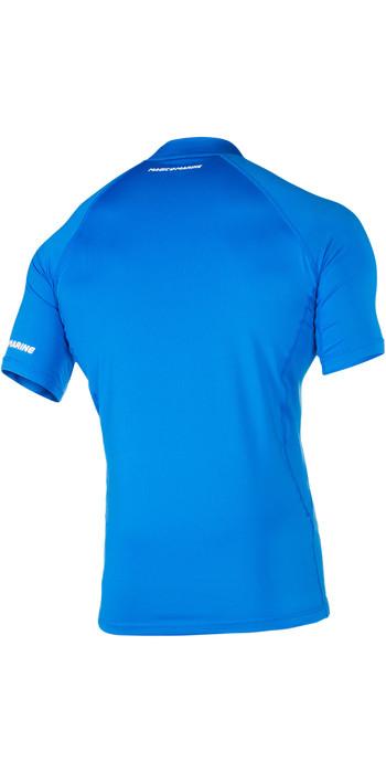 2021 Magic Marine Mens Cube Short Sleeve Rash Vest Blue 180042
