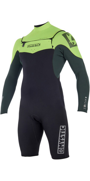 2019 Mystic Star 3/2mm Chest Zip long Arm Shorty Wetsuit Teal 180048