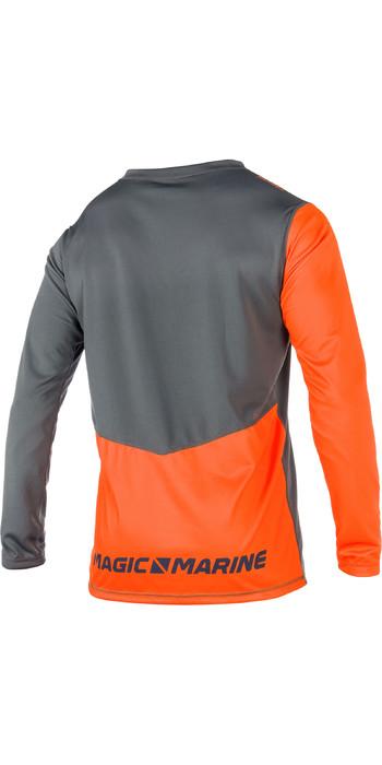 2021 Magic Marine Mens Cube Quick Dry Long Sleeve Top Orange 180061