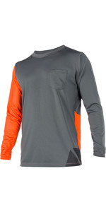 2020 Magic Marine Mens Cube Quick Dry Long Sleeve Top Orange 180061
